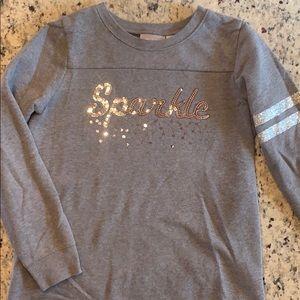 Children's place Girls sparkle sweatshirt XL